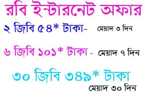 Robi internet offer
