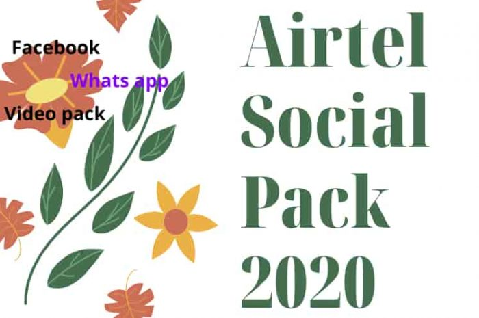 Airtel Social Pack code 2021 ( Facebook, Whats app, Video pack)