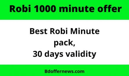 Robi 1000 minute offer