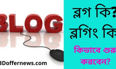What is blogging in bangla