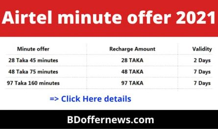 Airtel minute offer 2021