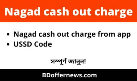 Nagad cash out charge