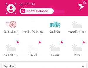 How to check the balance in bkash app