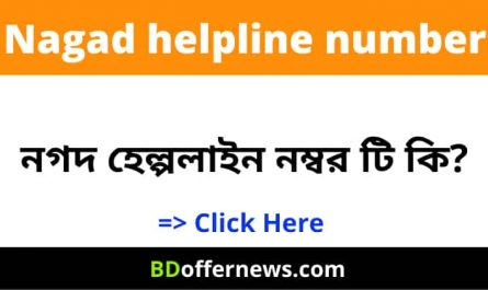 Nagad helpline number